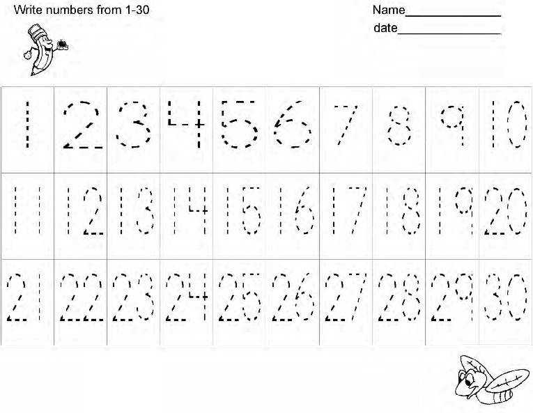 Practice Number Writing Worksheets 1