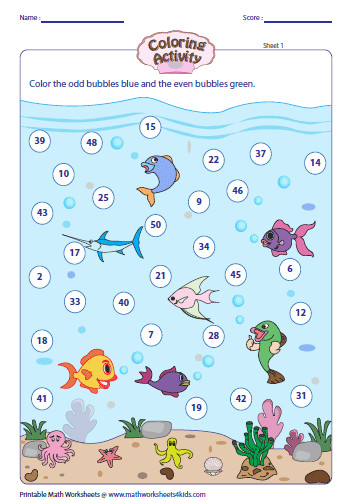 Odd and Even Numbers Coloring Activity