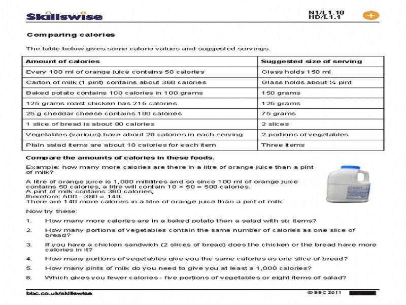 Nutrition Facts Label Worksheet Worksheets
