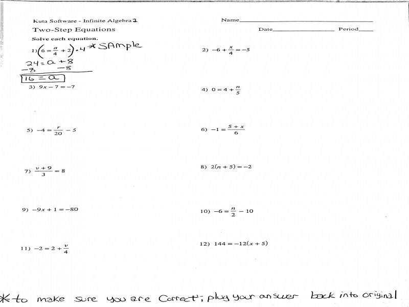 Two Step Equations With Fractions And Decimals Worksheets Jennarocca