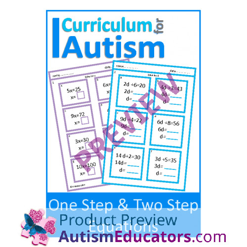 e Step & Two Step Equations Worksheets with Scaffolding