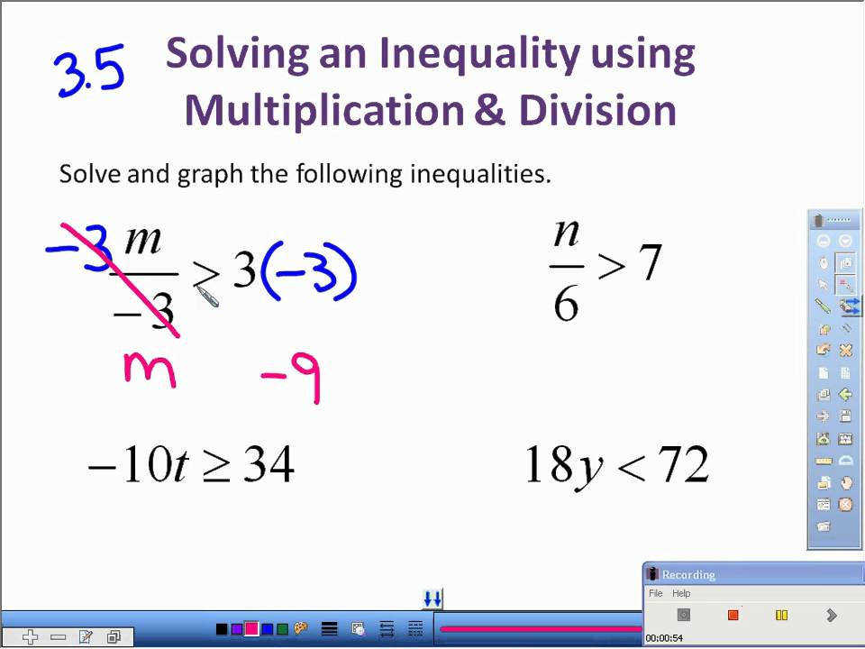3 5 Solving Inequalities with Multiplication and Division avi