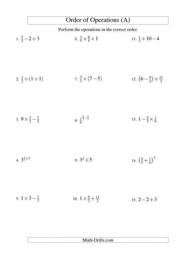Operations With Fractions Worksheet Homeschooldressage. Fractions Order Operations Two Steps A Math Ideas Fraction Operation Worksheets 3e1e0012a77b5abedd2aea934b5. Worksheet. Order Of Operations Worksheets Kuta At Mspartners.co