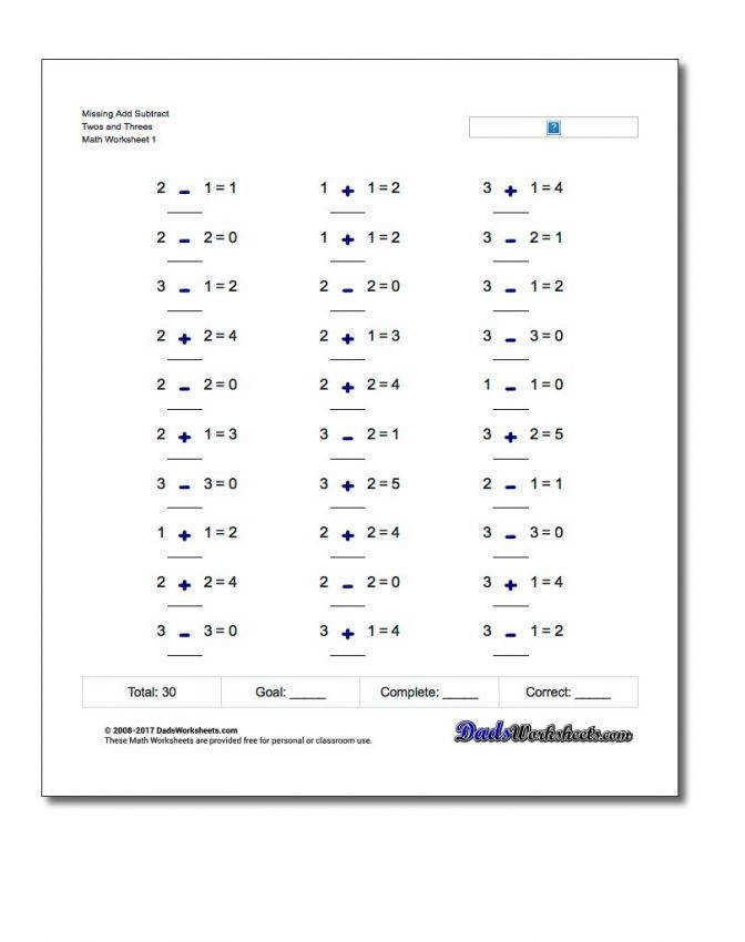 Missing Operations Mixed Integer Addition And Subtraction Worksheets Operation Twos Thre Integer Addition And Subtraction Worksheets