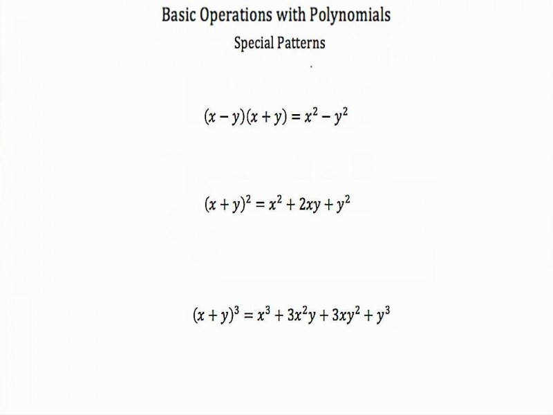 Basic Operations With Polynomials Pt 2 Youtube