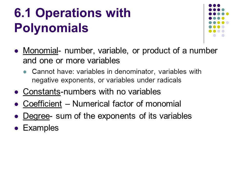 6 1 Operations with Polynomials