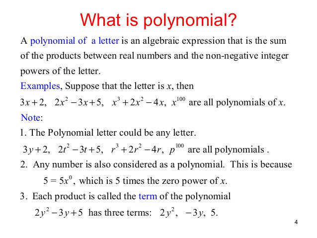 Polynomial operations 1