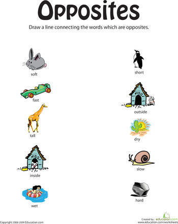 Looking for a worksheet to help your child with developing reading skills This printable is all about finding opposites
