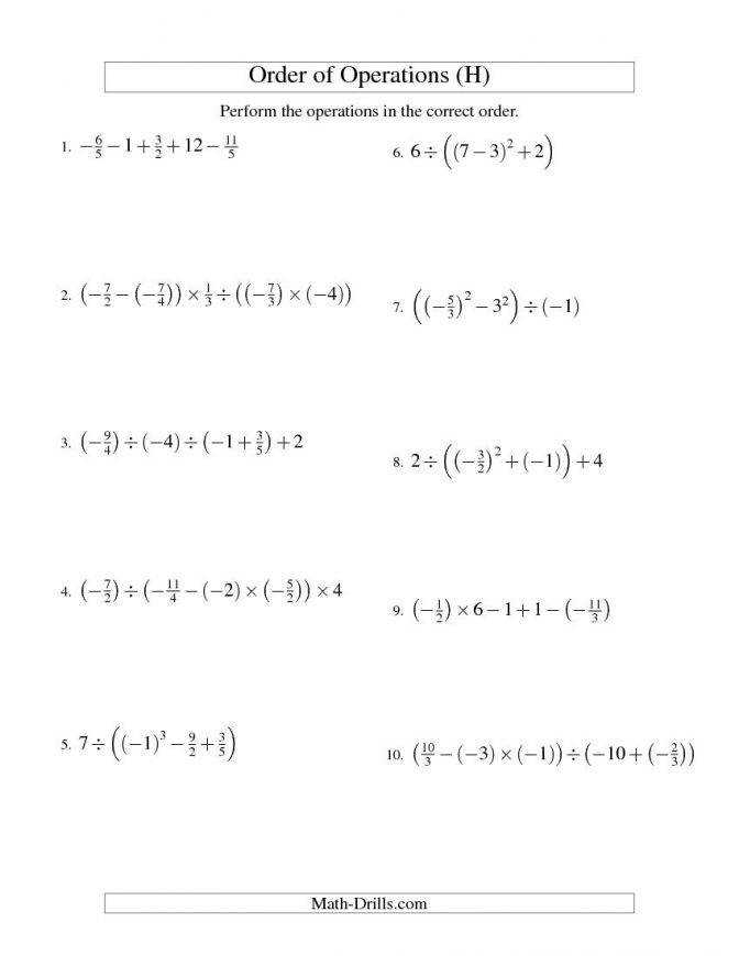 Order Operations With Fractions Four Steps Including Fraction Worksheets Pdf C5fd0f0d41b bf65c9e75 Fraction Operation Worksheets Worksheet