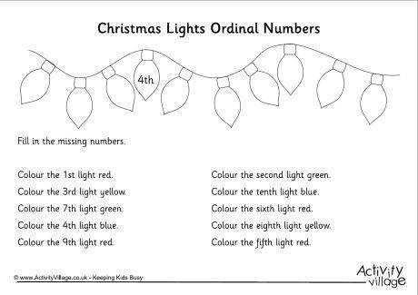 ordinal numbers worksheet christmas 1 460 0