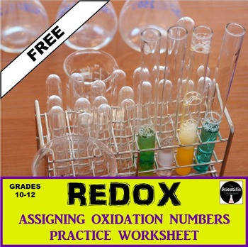 REDOX Oxidation Numbers Practice Worksheet