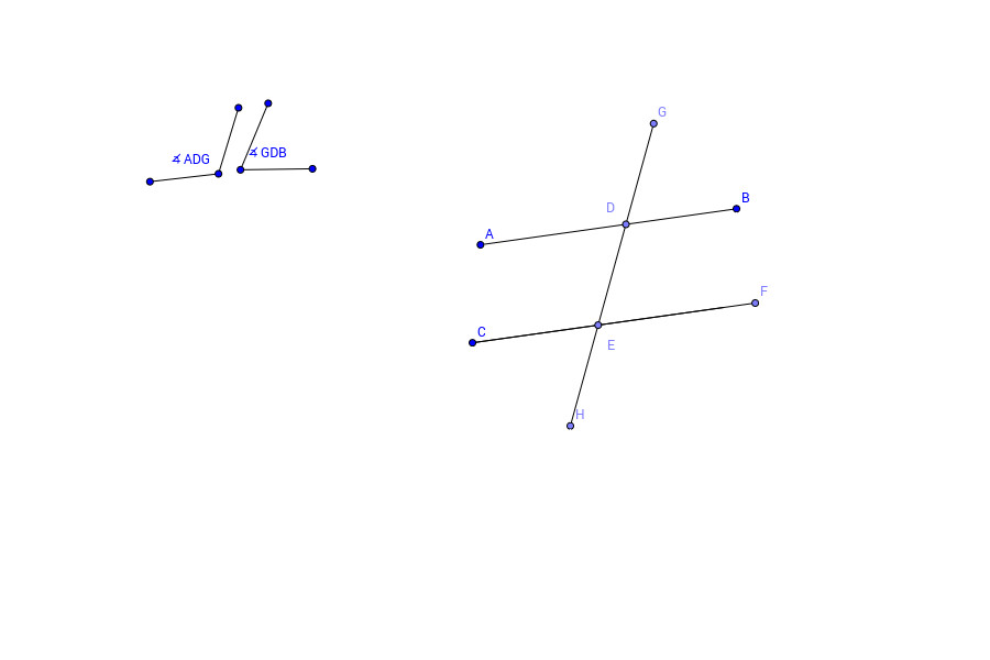 4 If the only thing you knew about parallel lines was that corresponding angles are congruent how could we explain that ∡BDG and ∡CEH are also congruent