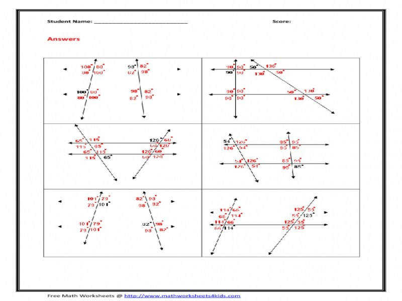 Parallel Line Worksheets Free Worksheets Library