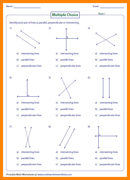 8 intersecting lines worksheet