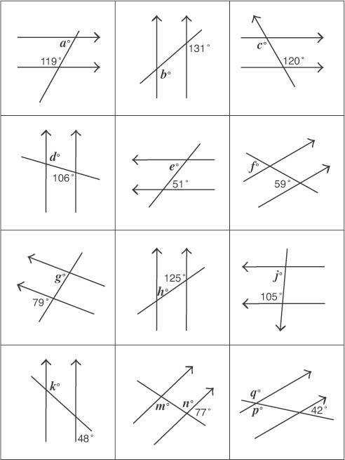 Angles And Parallel Lines Worksheet Determine Size Angles And List Reasons