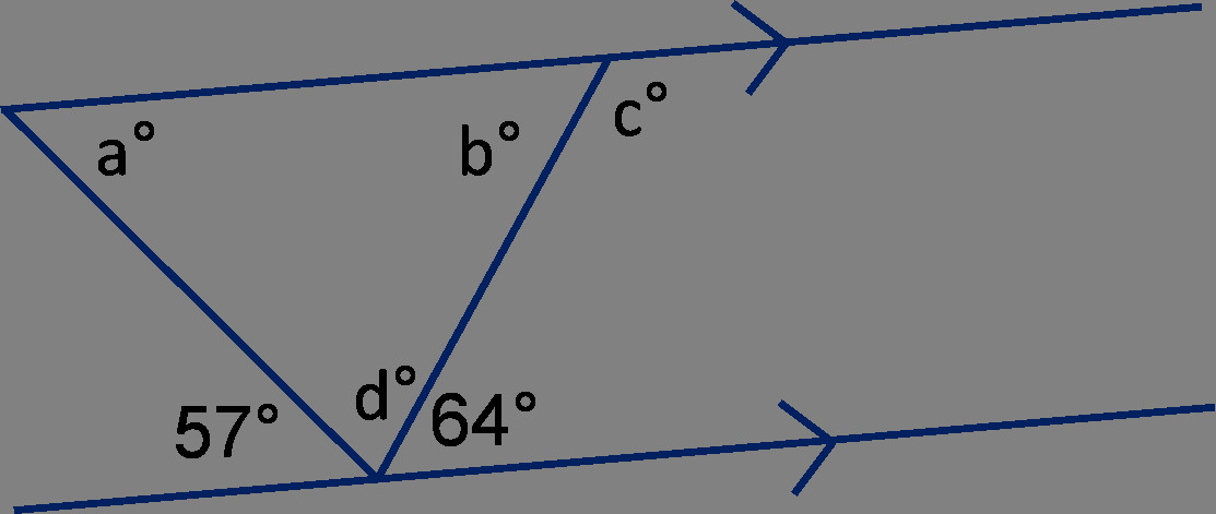 Angles in Triangles and on Parallel Lines 1