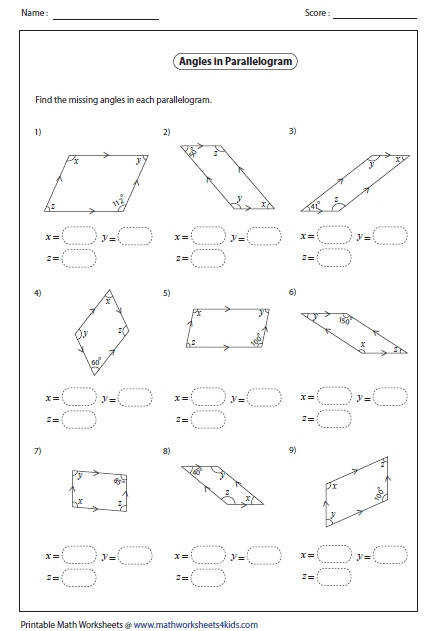 Papers Quadrilateral Worksheets Study Quadrilateral Worksheets