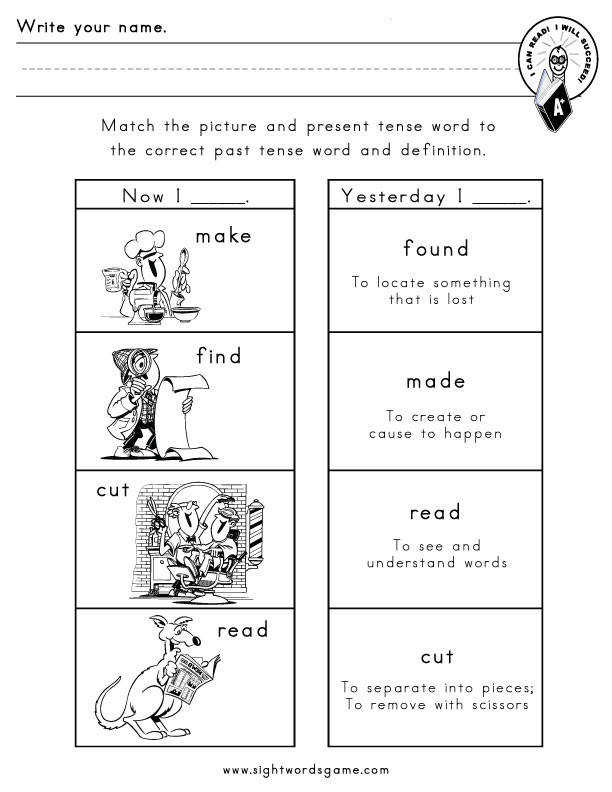 Irregular verbs worksheet 5