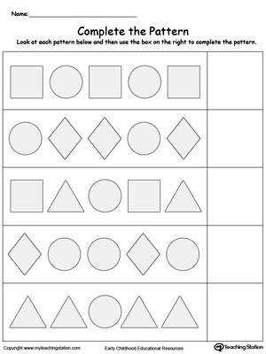 Early Childhood Math Worksheets