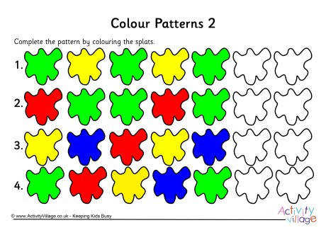 colour patterns worksheet 2 460 0