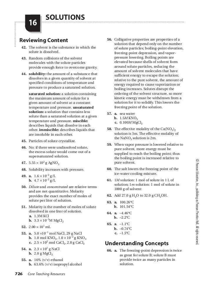 Answers to pearson education worksheets