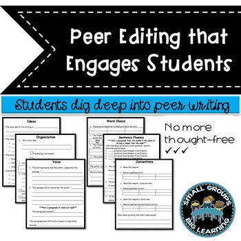 Peer Editing Worksheets mon Core Student Friendly