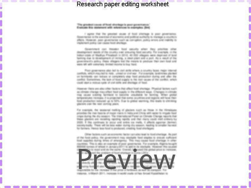 Research paper editing worksheet Browse and read research paper peer editing worksheet research paper peer