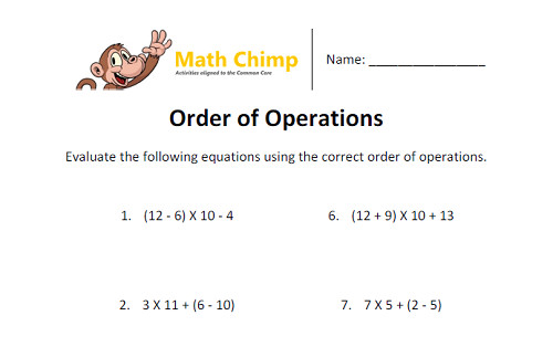 Order of Operations with Brackets