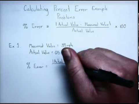 Calculating Percent Error Example Problem