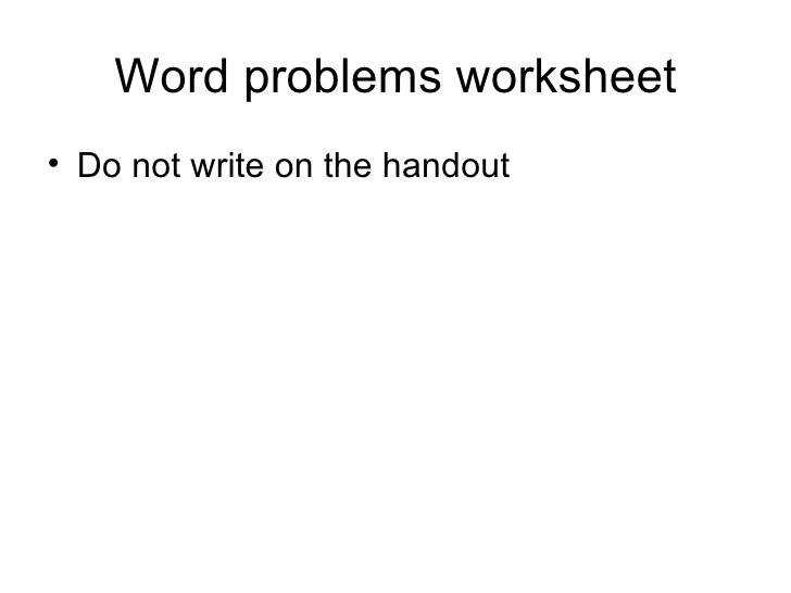 7 Word problems worksheet