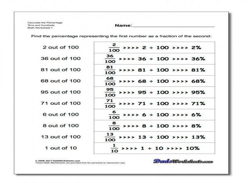 Percent Proportion Worksheet Stinksnthings