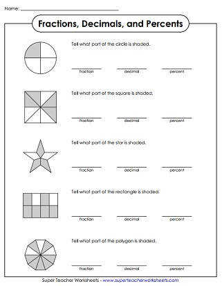 Printable Percent Worksheets
