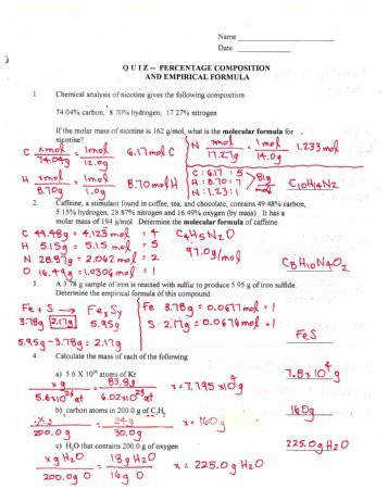 percent position by mass worksheet percent s