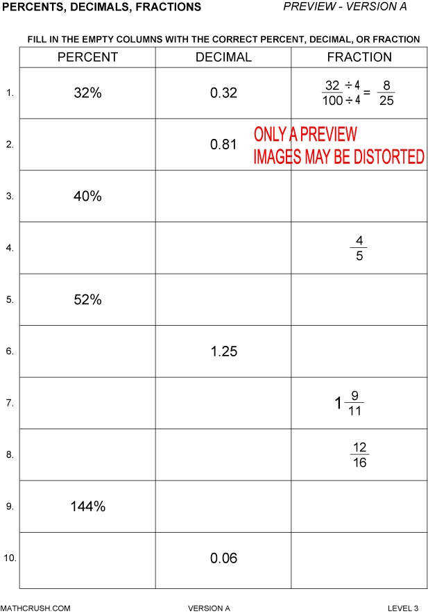 Percentage Worksheets  HomeschooldressageCom