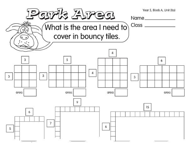 Preview of Play Area Puzzle A year 5 perimeter & area worksheet
