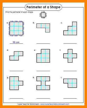 3rd grade area and perimeterrimeter worksheet 3rd grade