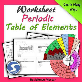 Elements and Periodic Table Worksheet e in Many Ways