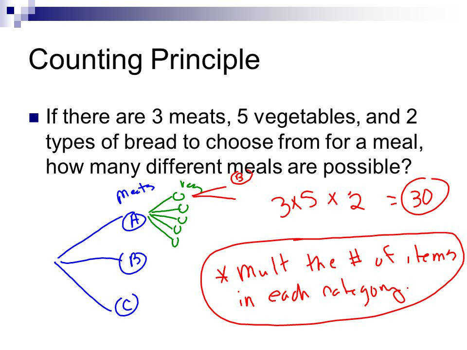 Permutations & binations 2 Counting