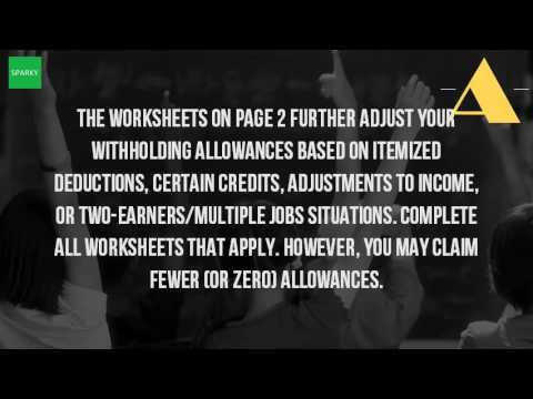 What Is The Personal Allowances Worksheet