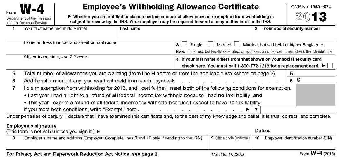 The bottom portion of page 1 Form W 4 the portion you give your employer appears to be very straight forward You can check in Box 3 whether you are ""