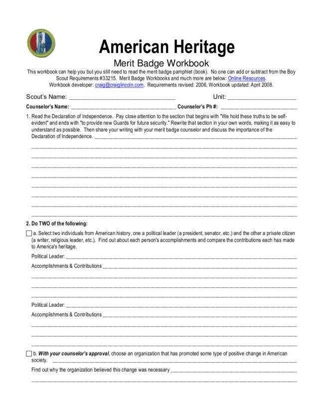 American Heritage merit badge