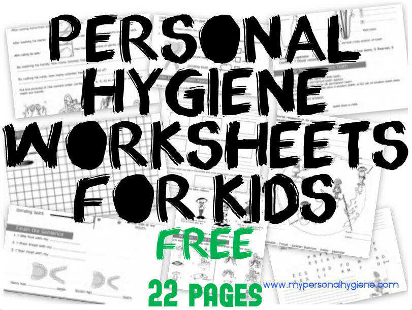 personal hygiene worksheets for kids