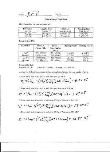 Worksheet Phase Change Worksheet phase change worksheet doc intrepidpath changes pogil worksheets