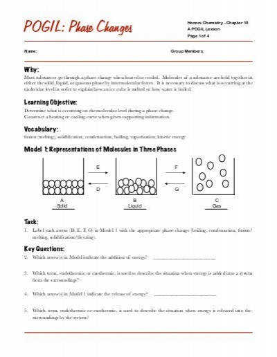 Phase Change Calculation Worksheet Q = Mcpƒ¢‹††t Q For A Phase