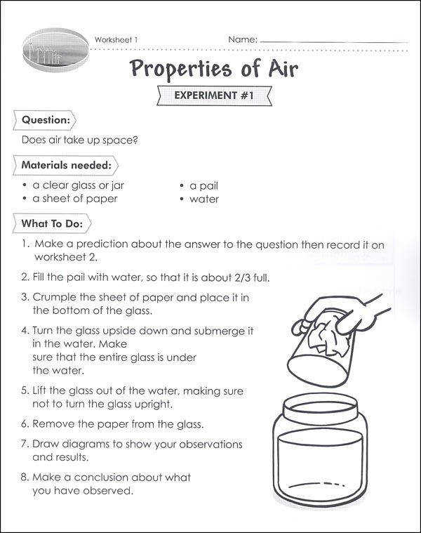 Properties of air worksheet
