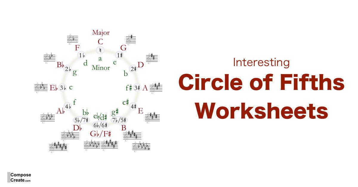 Circle of Fifths Worksheets FB