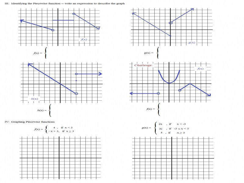 Math Plane Piecewise Functions & F X Notation