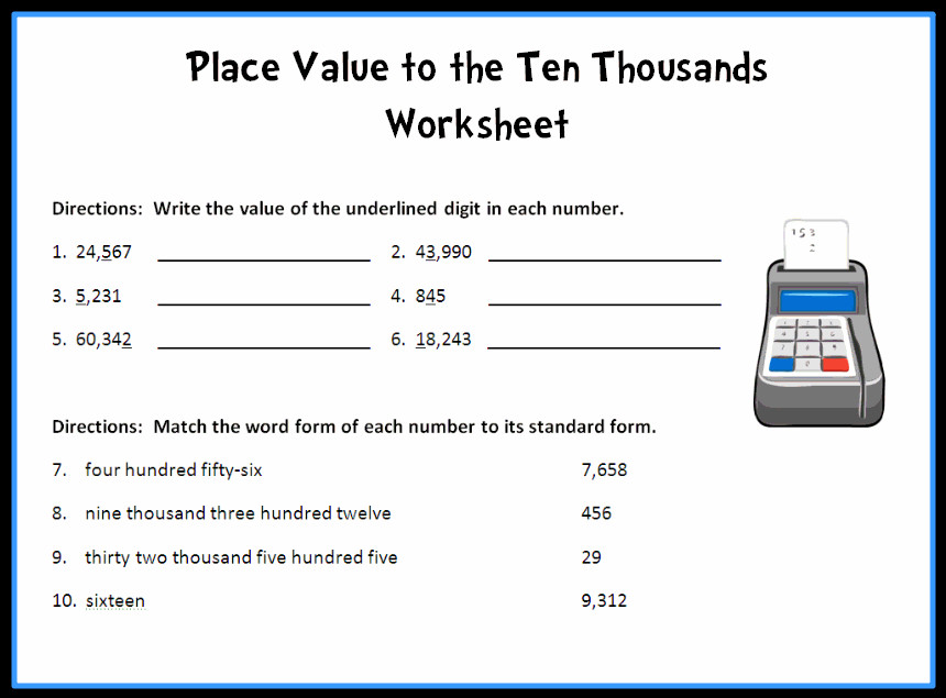 Place Value to the Ten Thousands