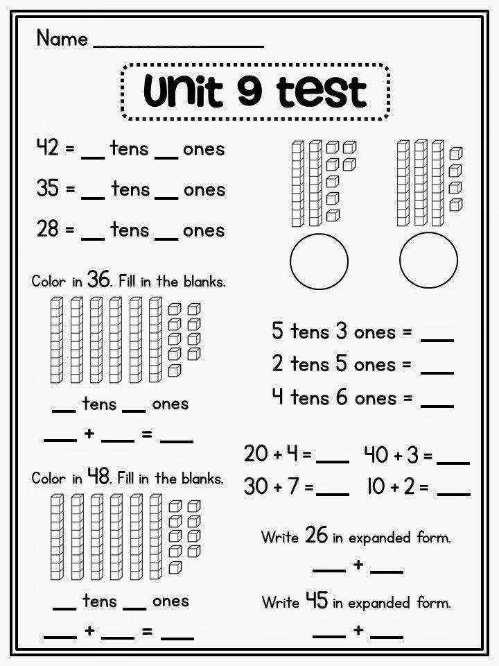 place value worksheet Place value assessments and other good resources for tens and ones