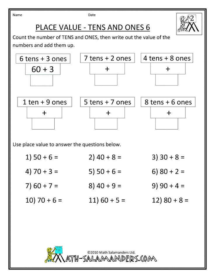 Here you will find our selection of free Math Place Value Worksheets First Grade Math Worksheets Place Value & Grade Math Worksheets printable for kids by